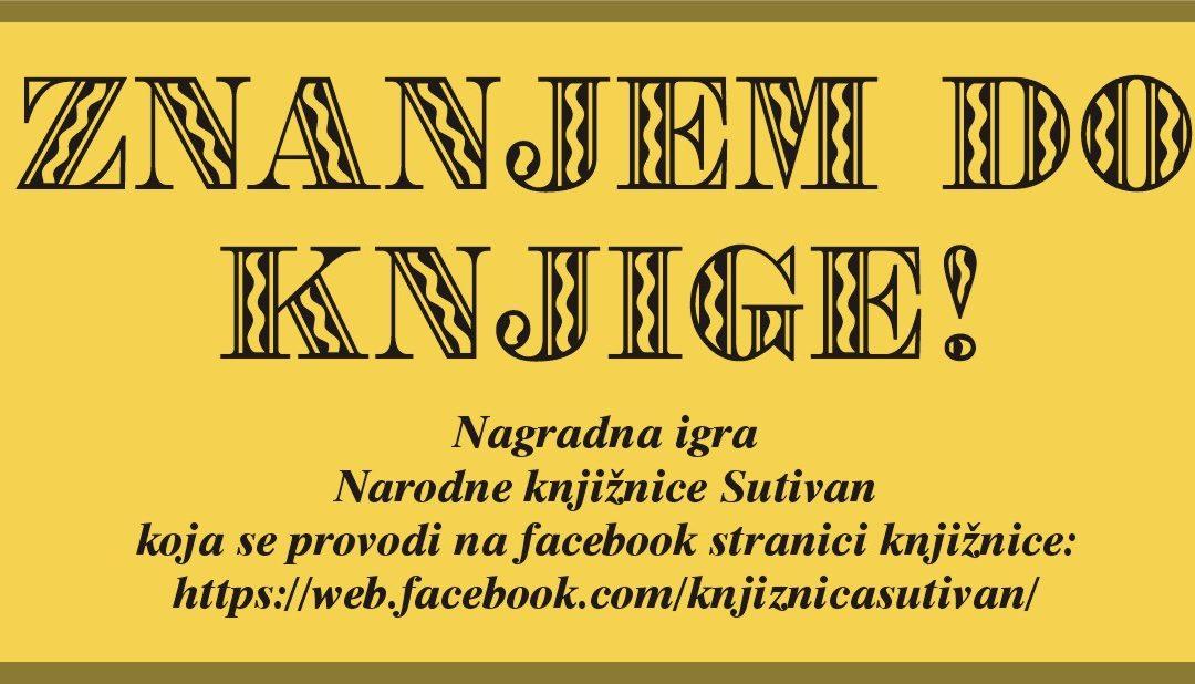 """Započinje nagradna igra """"Znanjem do knjige"""""""