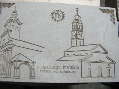 Kamena ploča na spomen susreta STRALLEG - PUČIŠĆA