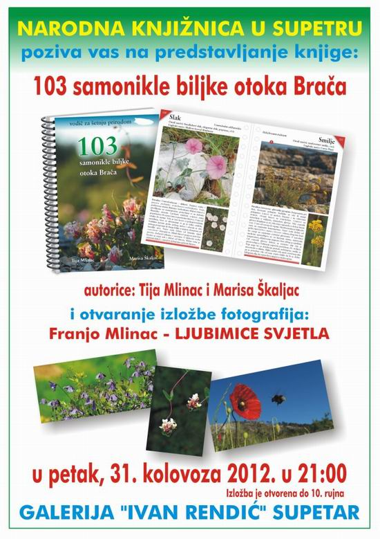 103 samonikle biljke u Supetru