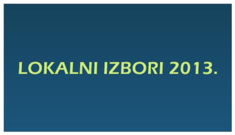 Lokalni izbori 2013. – rezultati