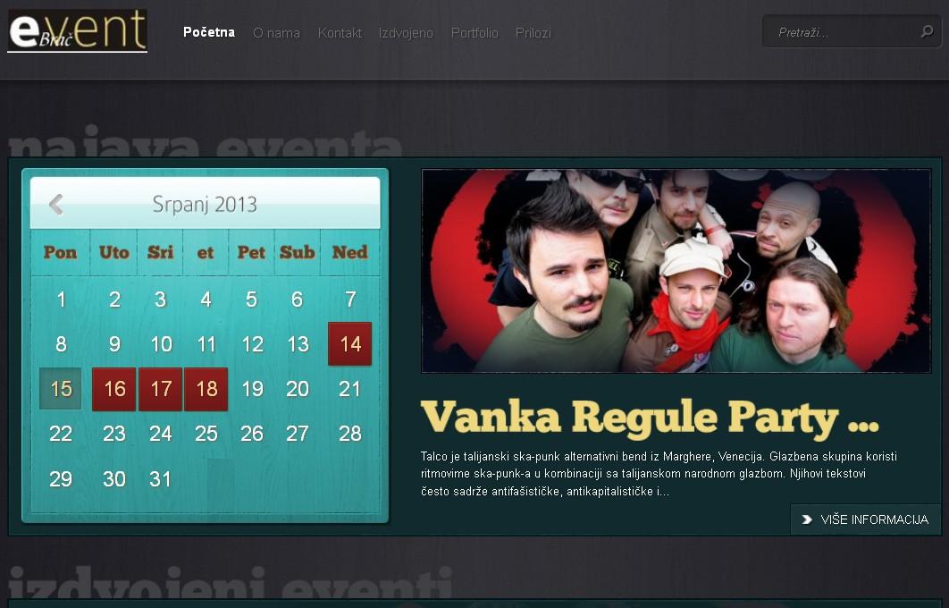Kalendar bračkih događanja!